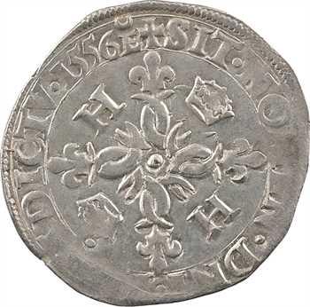 Henri II, douzain aux croissants, 1556 Troyes