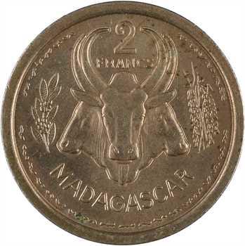 Madagascar, Union Française, essai de 2 francs, 1948 Paris