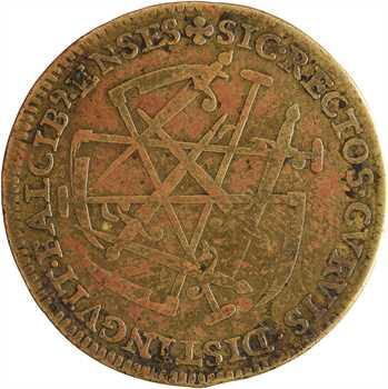 Henri III, jeton aux épées et faucilles (Sic Rectos Cvrvis), s.d. Paris
