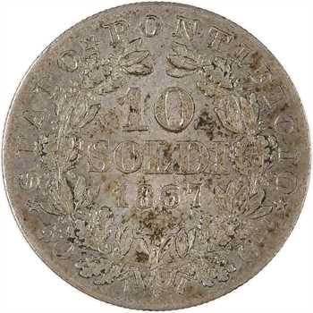 Vatican, Pie IX, 10 soldi, 1867 (An XXII) Rome