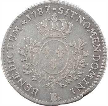 Louis XVI, cinquième d'écu aux branches d'olivier, 1787 Orléans