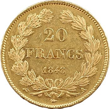 Louis-Philippe Ier, 20 francs Domard, 1848 Paris