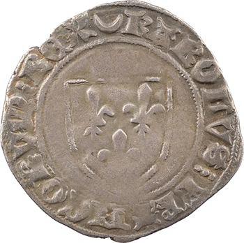 Charles VII, blanc à l'écu dit guénar, Châlons-en-Champagne