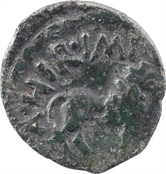 Rèmes ou Carnutes (incertaines ?), bronze ATHIIDIACI / A. HIR. IMP au lion, c.60-40 av. J.-C
