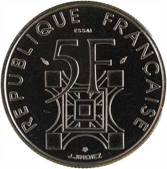 Ve République, essai de 5 francs Tour Eiffel, 1989 Pessac