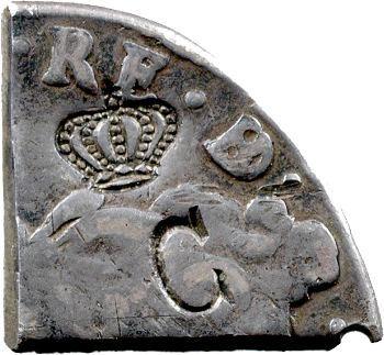 Guadeloupe, division (quart ?) de la piastre, sur un écu de Béarn