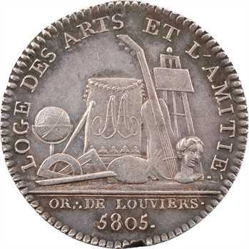 Orient de Louviers, les Arts et l'Amitié, 5805 (1805) Paris
