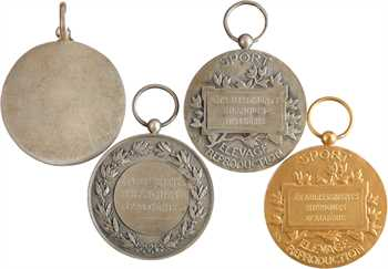 Algérie, établissements hippiques, lot de 4 médailles par Bouchard, s.d