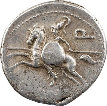 Manlia, denier, Rome, 113-112 av. J.-C.