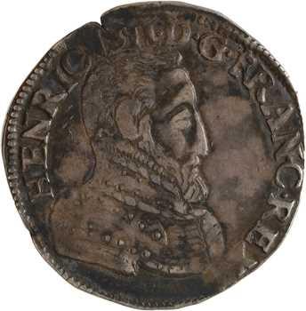 Henri II, teston à la tête nue 1er type, 1553 Poitiers