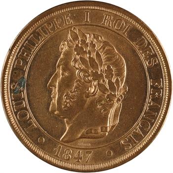 Louis-Philippe Ier, essai de 10 centimes à la charte, 1847 Paris