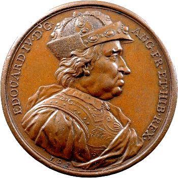 Angleterre, série des Rois par Jean Dassier, Édouard IV, s.d. (c.1731-1732)