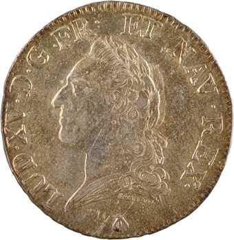 Louis XV, écu à la vieille tête, 1771 Toulouse