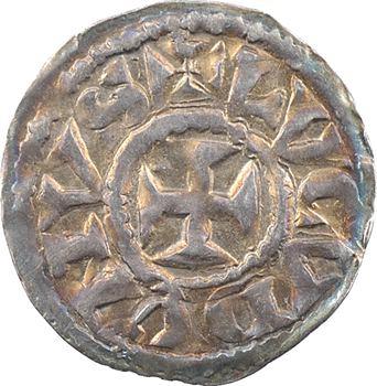 Lyon (comté de), Henri le Noir, roi de Bourgogne, denier au R, s.d. (1038-1058)