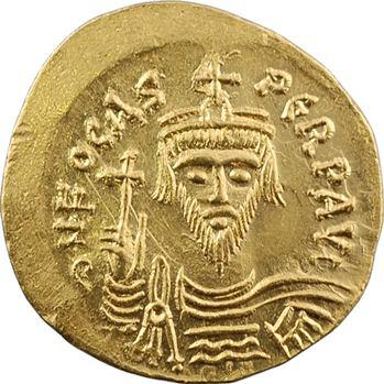 Phocas, solidus, Constantinople, 2e officine, 607-610