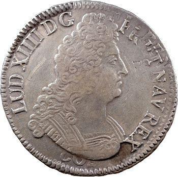 Louis XIV, Ecu aux 8 L, 2e type, 1705 Dijon