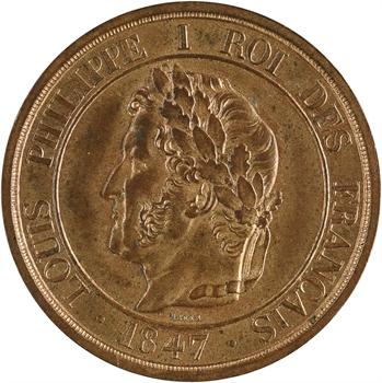 Louis-Philippe Ier, essai de 5 centimes à la charte, 1847 Paris