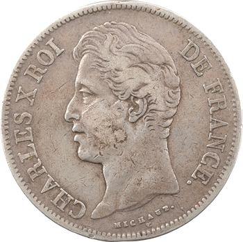 Charles X, 5 francs 2e type, 1828 Lyon