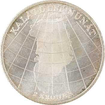 Danemark, Frédéric IX, 2 kroner (couronnes) Groenland, 1953