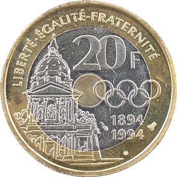 Ve République, essai de 20 francs Pierre de Coubertin, 1994 Pessac