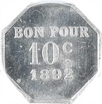 Suez (canal de), Société coopérative du Canal, 10 centimes, 1892, PCGS MS63