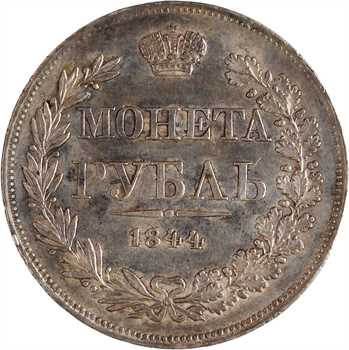 Russie, Nicolas Ier, rouble, 1844 Varsovie