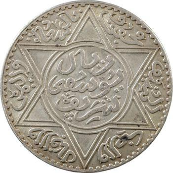 Maroc, Moulay Yussef I, 10 dirhams, 1331 de l'Hégire, Paris