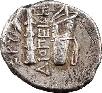 Ionie, Érythrées (Erythrai), drachme au nom du magistrat Diopeithes, c.320-280 av. J.-C