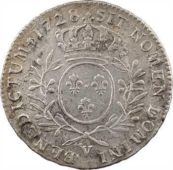 Louis XV, demi-écu aux rameaux d'olivier, 1728 Troyes