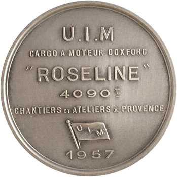 2Union Industrielle et Maritime / Chantiers et Ateliers de Provence, le cargo Roseline, 1957 Paris