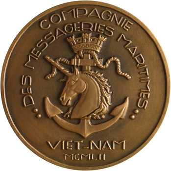 Compagnie des Messageries Maritimes, le paquebot Viet-Nam, par Tschudin, 1952 Paris