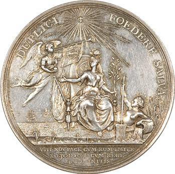 Pays-Bas, médaille de la Compagnie des Indes et de la ville d'Amsterdam, 1785