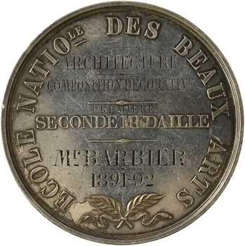 Gatteaux (E.) : Prix d'architecture de l'Ecole Nationale des Beaux Arts, 1891-1892 Paris