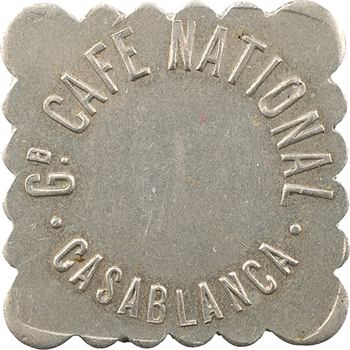 Maroc, Casablanca, 50 centimes Grand Café national, s.d