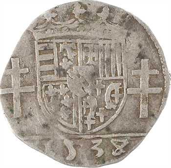 Lorraine (duché de), Antoine, quart de teston, 1538/7 Nancy