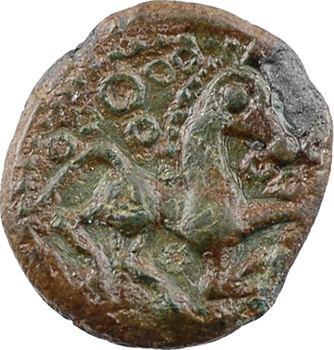 Bellovaques, quart de statère en bronze à l'œil, c.80-50 av. J.-C.