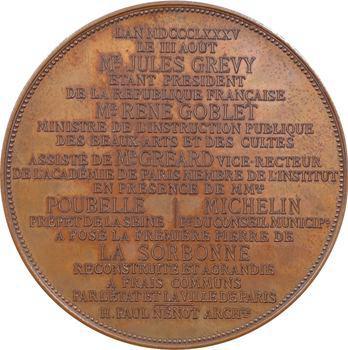 IIIe République, pose de la première pierre de la Sorbonne, 1885 Paris