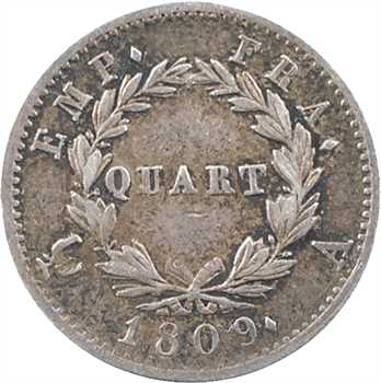 Premier Empire, quart de franc Empire, 1809 Paris