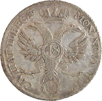 Allemagne, Lübeck (ville libre de), thaler ou 48 shilling, 1752 Lübeck