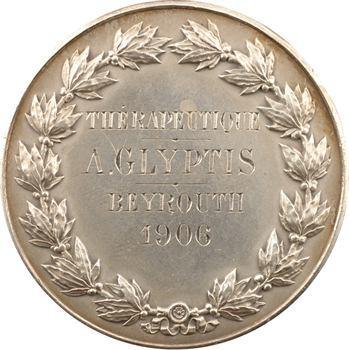 Liban, Beyrouth, prix de thérapeutique, A. Glyptis, 1906