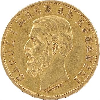 Roumanie, Charles Ier, 20 lei, 1883 Bucarest