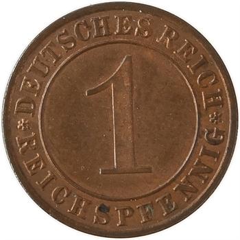 Allemagne, République de Weimar, reichspfennig, 1927-G