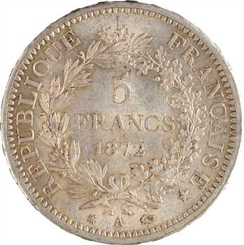 IIIe République, 5 francs Hercule, 1872 Paris