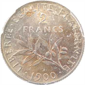 IIIe République, 2 francs Semeuse, 1900 Paris, PCGS MS62