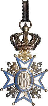 Serbie, Ordre de Saint Sava, bijou de Grand Officier