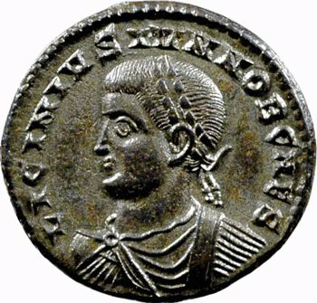 Licinius II, nummus, Thessalonique, 320