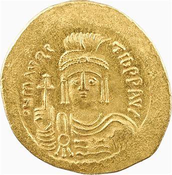 Maurice Tibère, solidus, Constantinople, 10e officine, 585-586