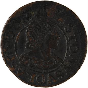 Dombes (principauté des), Gaston d'Orléans, double tournois 14e type, 1641 Trévoux