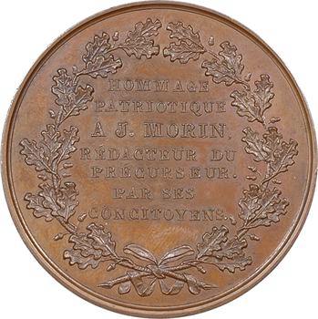 Louis-Philippe Ier, hommage patriotique à J. Morin, rédacteur du Précurseur (Lyon), par Dantzell, 1830 Paris