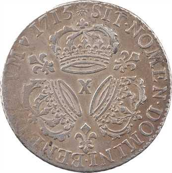 Louis XIV, quart d'écu aux trois couronnes, 1715 Amiens